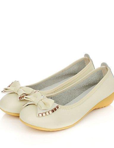 sintética rojo beige PDX Flats redonda piel punta Casual Beige us6 talón de eu36 mujer uk4 de plano negro cn36 zapatos wqqvZpXcO