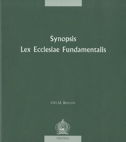 Synopsis 'Lex Ecclesiae Fundamentalis' (Canon Law) by Peeters Publishers