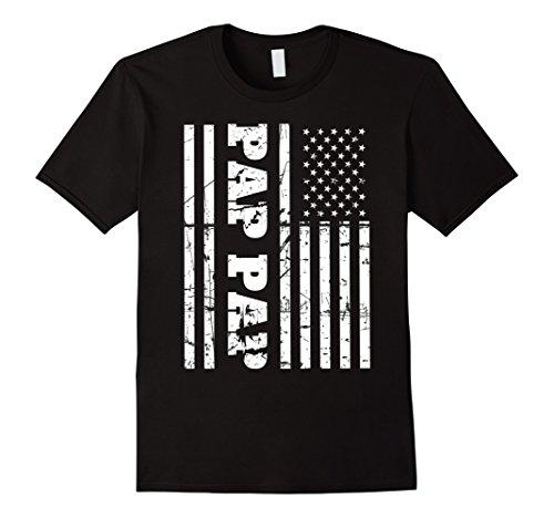 Mens Vintage Pap Pap T-Shirt with American Flag Grandfather's Gif XL - Usa Usa Usa Gif