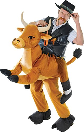 Bull Outfit (Adult Stag Night Fancy Party Outfit Cowboy Ride On Animal Step In Bull Costume)
