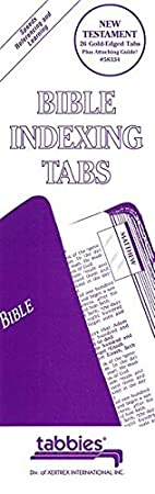 90 Tabs Including 71 Books /& 19 Reference Tabs Old /& New Testament Plus Catholic Books Tabbies Catholic Gold-Edged Bible Indexing Tabs 58330