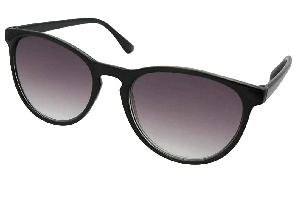7769006186 Amazon.com  Retro Vintage Semi Round Multifocal Reading Lens Sunglass B118  (Black Frame-Gray Lenses