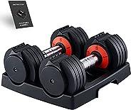 arteesol Adjustable Dumbbells 2pcs, Poids et Haltere, Dumbbells Weights 5lbs to 15 lbs, Weight Set (2 Dumbells
