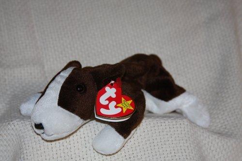 Bull Terrier Plush - Ty Beanie Babies - Bruno the Bull Terrier