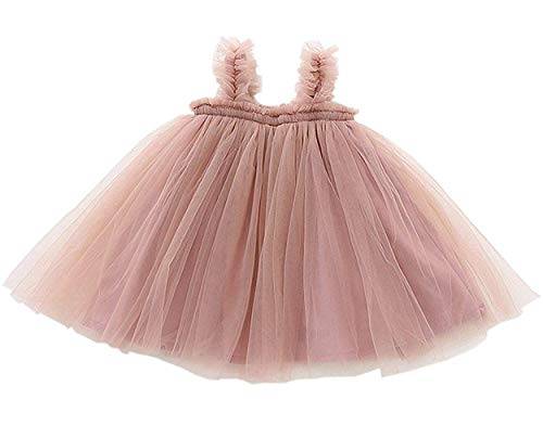 - GSVIBK Baby Girls Tutu Dress Toddler Tulle Tutu Dress Infant Long Sleeve Cotton Dresses Princess Party Dress 12M Pink 708