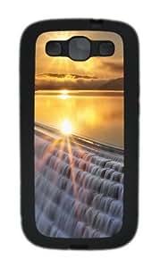 Sunset And Waterfall Custom Design Samsung Galaxy S3 Case Cover - TPU - Black