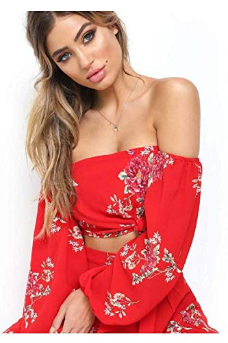 Robes Pièces 2 De Rouge Épaules coloré Minces Rouge Small Mousseline En Tenue Oudan Ville Décontractée Soie D'été Taille xp4wf7FFqY