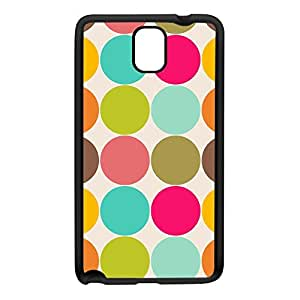 Cute Colorful Polka Dot Pattern Black Silicon Rubber Case for Galaxy Note 3 by UltraCases + FREE Crystal Clear Screen Protector