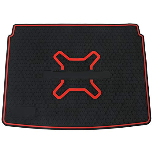 (biosp Car Rear Trunk Mat Cargo Liner for Jeep Renegade 2015 2016 2017 2018 2019 All Weather Black Red Heavy Duty Rubber Custom Fit-Waterproof-Odorless)