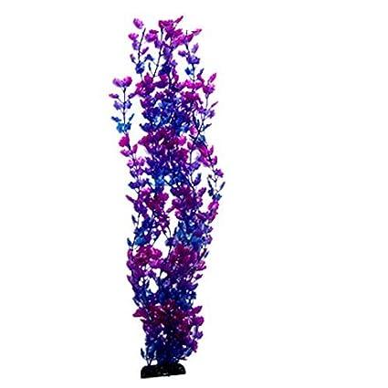 eDealMax Planta de Acuario plástico del tanque de pescados de la decoración del ornamento, púrpura