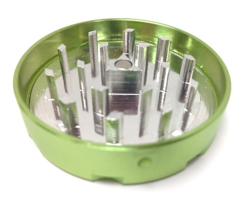 Hush Crush 2'' 4-Piece Magnetized Tobacco Herb Grinder - Lime Green by Hush Crush (Image #3)