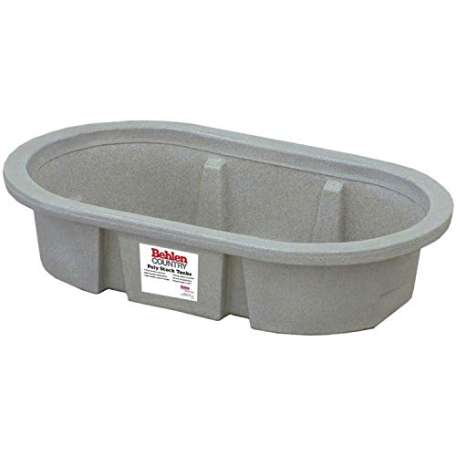 Behlen Country PRE214 50-Gallon Poly Stock Round-End - Stock Poly Tank