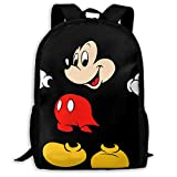 CHLING Lightweight Backpack Briefcase Laptop Shoulder Bag Mickey Mouse Cartoons Classic Basic Water Resistant Daypack Bag