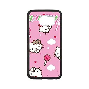 Hello Kitty Lollipop Pattern Samsung Galaxy S6 Cell Phone Case White phone component RT_159300
