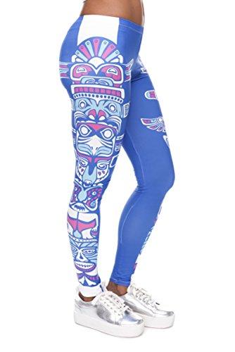 FRINGOO - Medias deportivas - para mujer Totem Blue