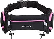 Fitletic / iFitness Running Hydration Belt - Quench Retractable Hydration Belt - Fits Most Bottles from 12 - 2