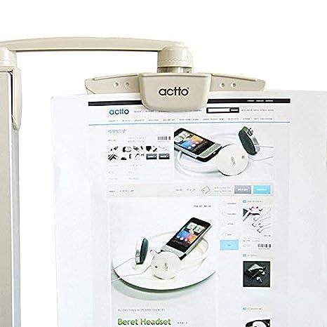 1 PCS Document Holder Clip for Typing Reading Document Copy Folder, White Vanki