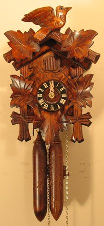 Sternreiter Bird and Leaf Black Forest Mechanical Cuckoo Clock -