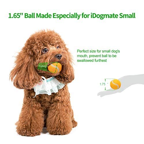 IDOGMATE Small Dog Ball Launcher,Automatic Dog Ball Thrower for Mini Dog (Small Machine with 3 Balls) by IDOGMATE (Image #3)