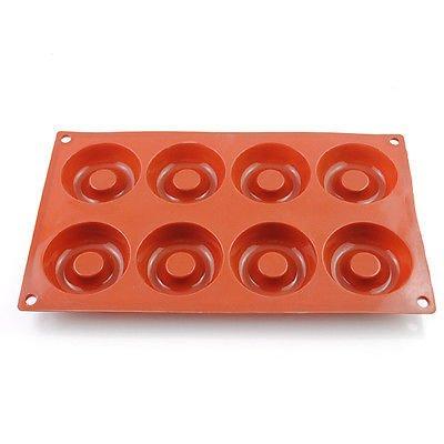 8 Cavity silicona Donut para horno para repostería Chocolate jabón ...