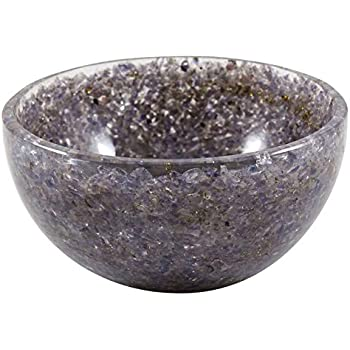Harmonize Iolite Decorative Bowls for Home Décor Handmade Reiki Crystal Gemstone Bowl