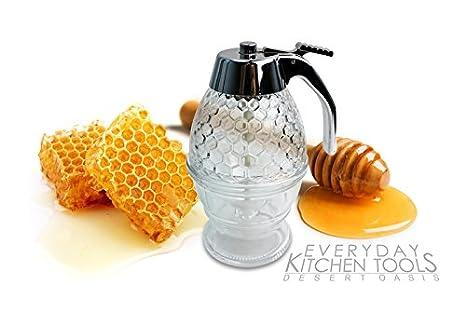 Dispensador de miel y jarabe de arce, estilo de dripless ihop recipiente para dispensadores de