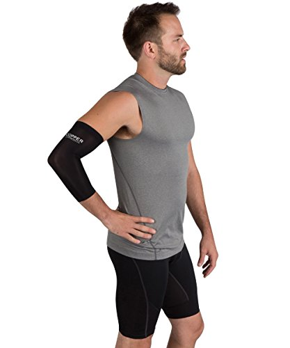 Copper Sleeve Highest Content Elbow Support. For And Tennis Tendonitis. Copper Infused - Wear Anywhere.