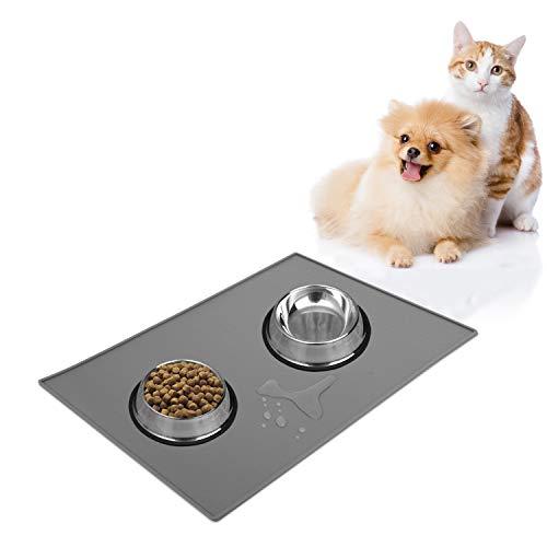 Adoric Dog Food Mat, FDA-Grade Silicone Waterproof Pet Dog Cat Food Mat,Non-Slip Dog Cat Feeding Mat-Small
