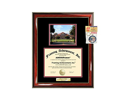 (Diploma Frame Stanford University Graduation Gift Idea Engraved Picture Frames Engraving Degree Graduate Bachelor Masters MBA PHD Doctorate School)