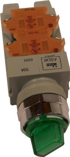 IDEC ASLW29922D-G-120V SEL SWITCH 22mm 2-POSITION