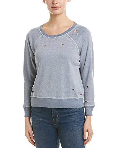 n:PHILANTHROPY Women's Long Sleeve Pullover Sweatshirt, Washed Indigo G ()