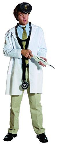 Lab Coat Doctor Costume (Rasta Imposta Plain Lab Coat, White, Adult Large/X-Large)