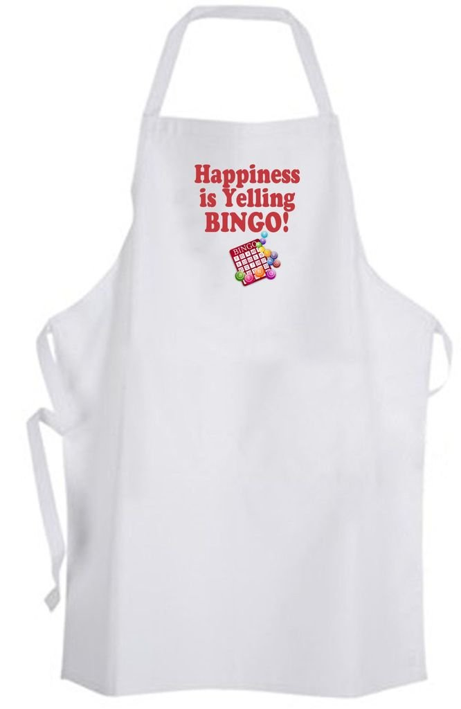 Happiness is Yelling BINGO! Adult Size Apron – Game Win by Aprons365