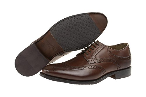 Gordon & Bros Francesco s500318Hombre Business Guantes cordones, hombre, traje, Derby Blake piel marrón