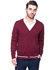 Noble Mount Tocco Reale Gift Packaged Men's 100% Cotton Cardigan Sweater