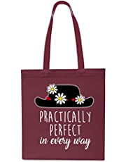 Practically Perfect in Every Way Tote Shopping Gym Beach Bag 42cm x38cm, 10 litres