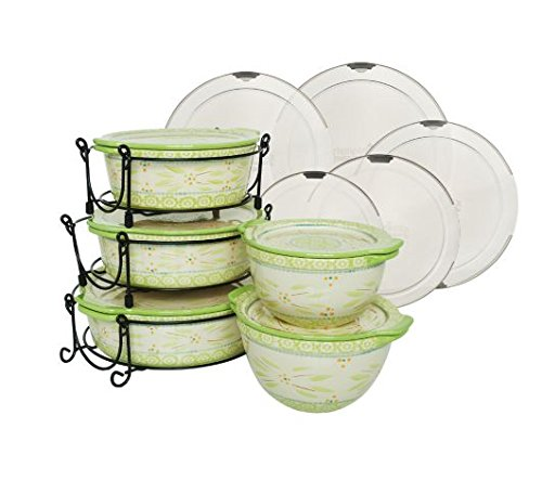 Temp-tations Old World 13-pc Round Baker Set w/ Lid-its - Teal