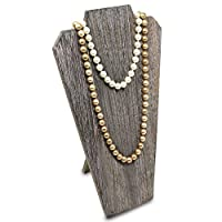 Mooca Lightweight Wooden Jewelry Necklace Display Bust Easel