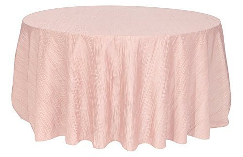 Your Chair Covers   132 Inch Round Crinkle Taffeta Tablecloths Blush Gallery