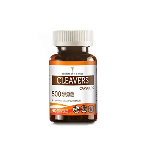 Cleavers 90 Capsules, 500 mg, Organic Cleavers (Galium aparine) Dried herb (90 Capsules)
