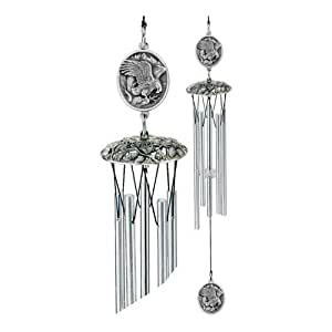 1pc, Pewter Eagles Wind Chimes