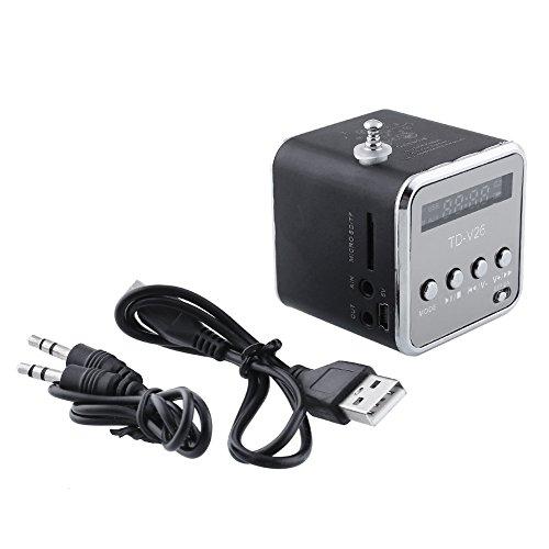 Cewaal Digital Portable Music Speakers Micro SD TF USB FM AUX IN
