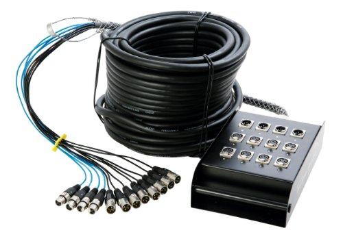 In Line Audio 8 Channel Audio Snake - (50 Feet) (Black)