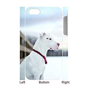 3D Bumper Plastic Case Of Pit Bull Terrier customized case For Iphone 4/4s