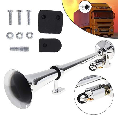 Single Trumpet Air Horn - ePathChina 17 Inch 12V / 24V 150dB Super Loud Single Trumpet Air Operated Horn for Truck/Boat/Train/Lorry