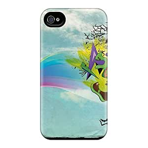 New WgqIuaN3976WhSwJ Creative Wallpaper Box Thinking Cover Case For Iphone 4/4s