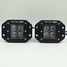 """VIVID LIGHT BARS 3.2"""" 40W 4D Cree Spot Led Flush Pods"""
