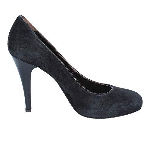 De Mujer Salón Zapatos Gamuza Morichetti Negro Francesco EwF7SS