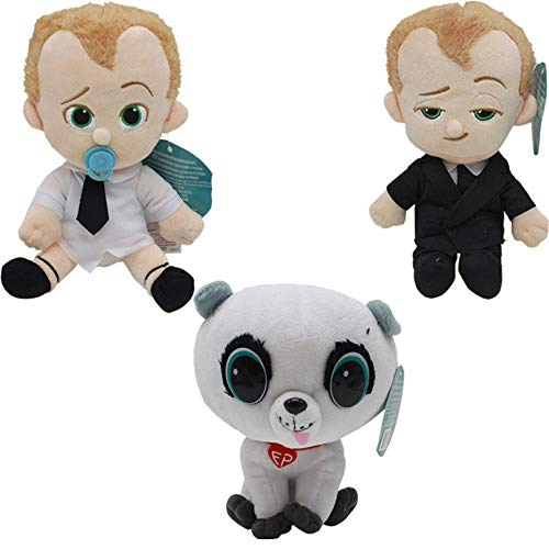 YODE DreamWorks The Boss Baby Forever Puppy Dog Plush Figure Stuffed Soft Toys for Children 3Pcs/Set