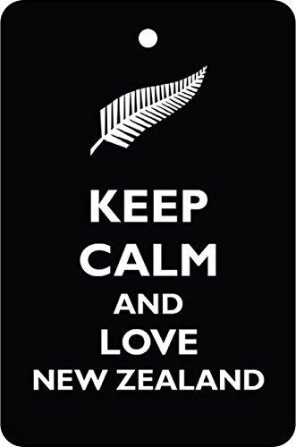 Zealand File New (Keep Calm and Love New Zealand Car Air Freshener (Xmas Christmas Stocking Filler/Secret Santa Gift))